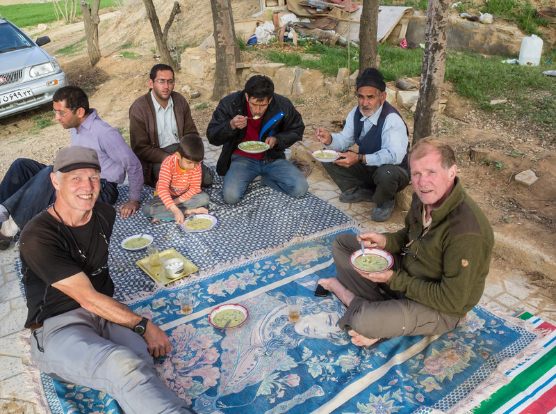 Homemade soup offered by friendly Iranian family