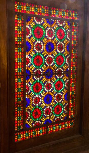 Colored glass windows, Dowlat Abad Garden