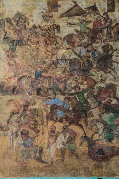 Fresco of the entrance building