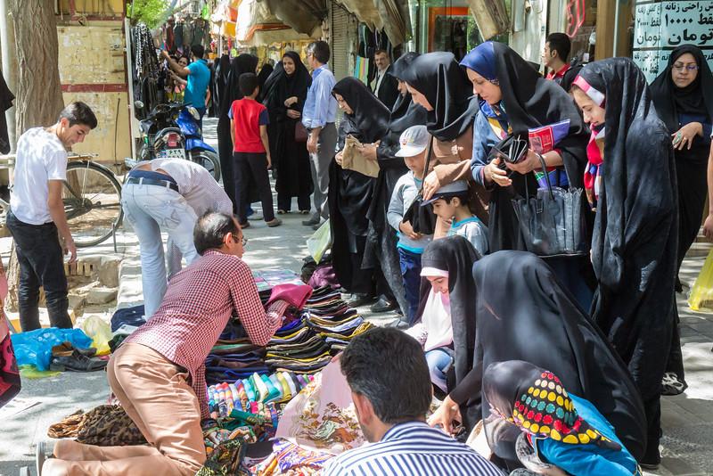 Bazaar and shops near Amir Chakhmaq Square