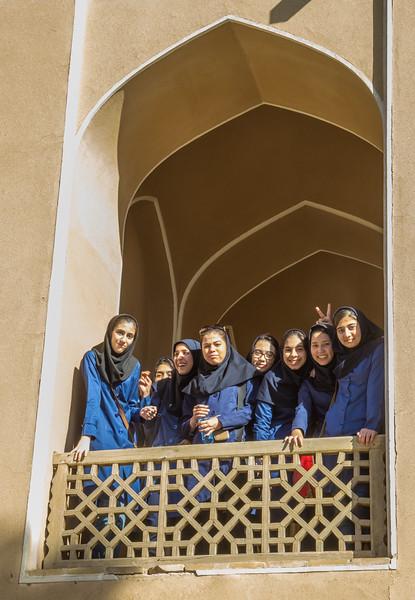 School girls at Dowlat Abad Garden