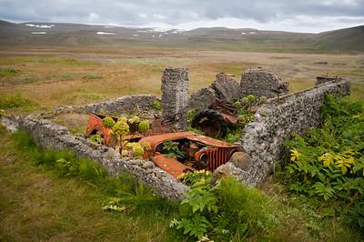 Pozůstatky předválečné rybářské osady.
