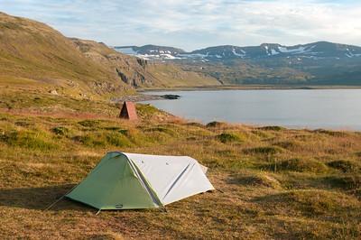 Další z mých osamělých tábořišť. Samotu si vychutnávám plnými doušky.