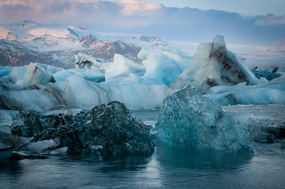 ...včetně tohoto neuvěřitelného černého ledu.