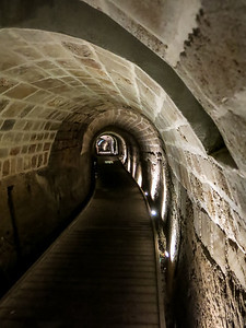 Templar tunnel in Acre Israel.