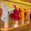 Leather gloves in a shop in the Piazza di Spagna (Spanish Steps)