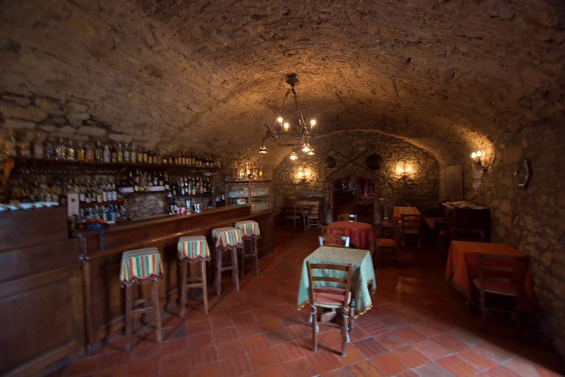 Bar at the hotel Castello di Spaltenna in Gaiole in Chianti (sorry for the camera shake)