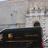 UPS truck outside the Vatican