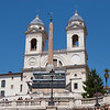 Trinita dei Monti church at top of the Piazza di Spagna (Spanish Steps)