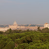 View of the Vatican from hotel