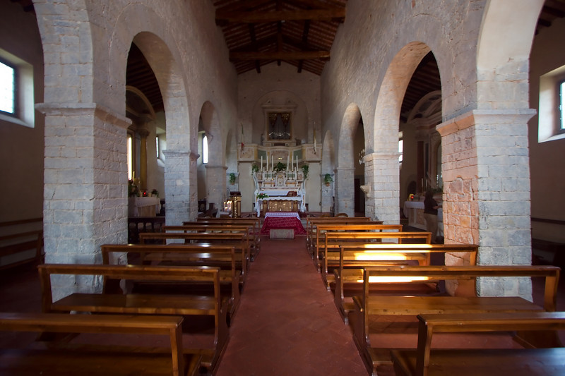 Church at the hotel Castello di Spaltenna in Gaiole in Chianti