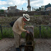 The Forum–drinking from one of the many artesian fountains of Rome