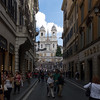 High-end stores leading to the Spanish Steps.