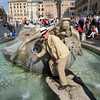 Mike in the famous Fontana della Barcaccia (Old Boat), located at the bottom of the Spanish Steps.