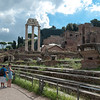 The Forum–Palatine Hill, one of the seven hills of Rome.