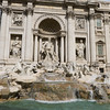 """Trevi Fountain, 18C–a HUGE Baroque fountain in a tiny piazza where three streets meet. This fountain was pictured in a number of famous movies and is also featured in Respighi's symphonic """"Fountains of Rome."""""""