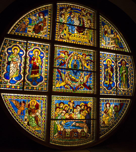Stained glass window, Oculus over High Altar
