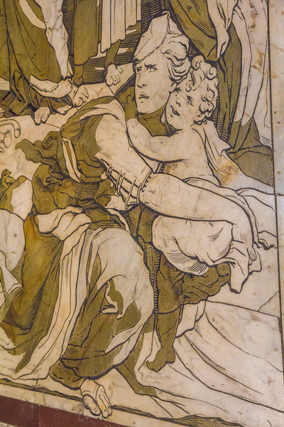 Detail of the marble floor
