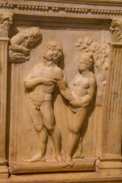 adam and eve, detail of baptistry