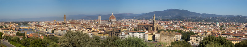 view from Piazzale di Michelangelo in Florence