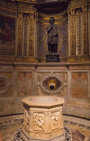 Chapel of Saint John the Baptist with the bronze statue of St. John the Baptist