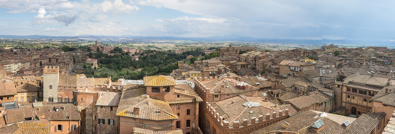 Aerial panorama view of Siena