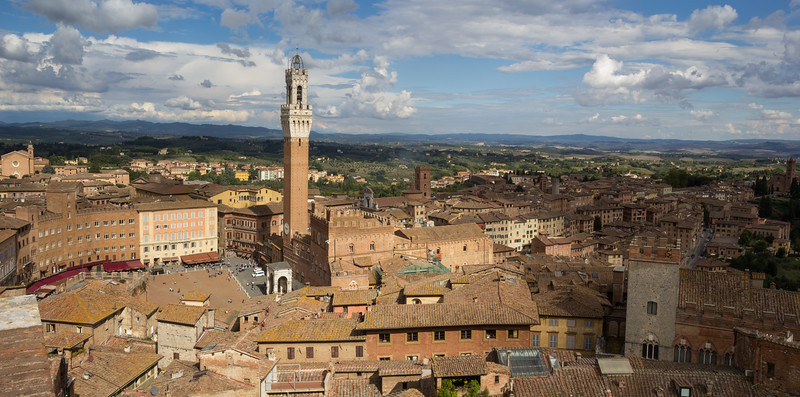 Aerial view of Palazzo Pubblico