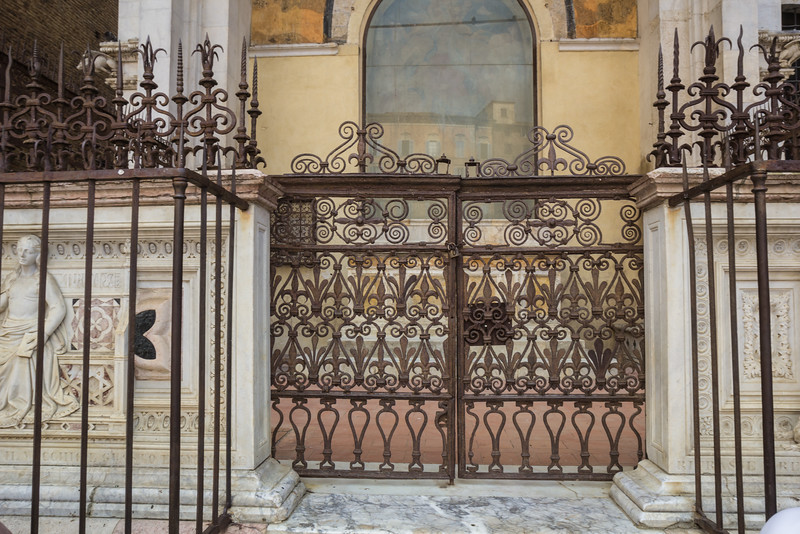 Ironwork fence and gate