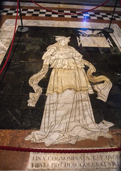 Marble floor fragment