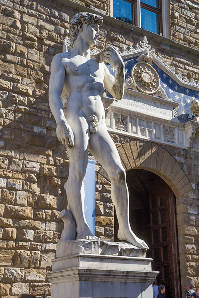 A reproduction of Michelangelo's statue David