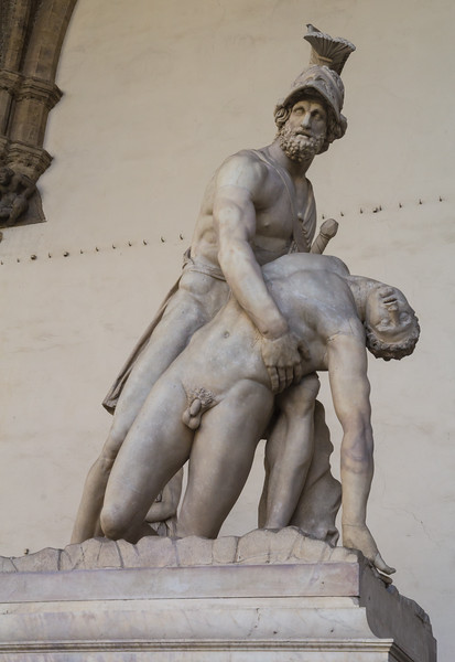 Menelaus supporting the body of Patroclus,