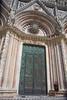 Central bronze door