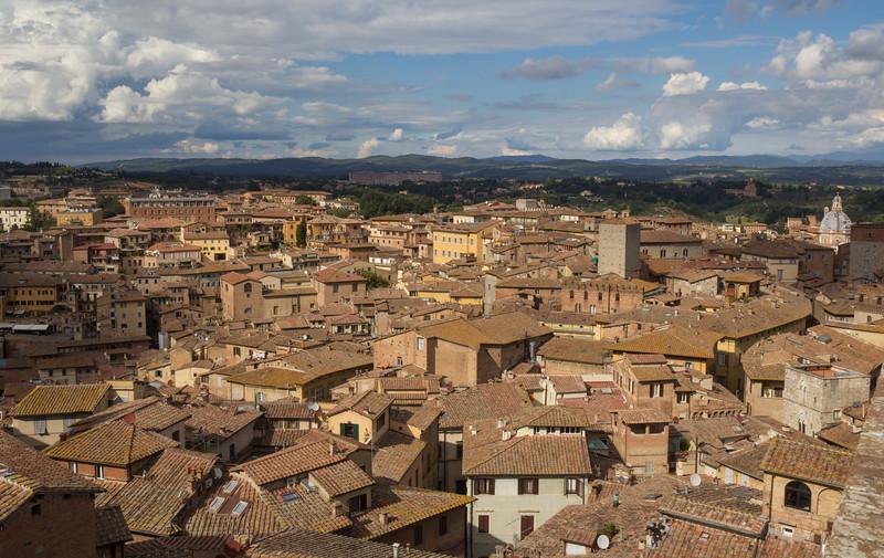 Aerial view of Siena