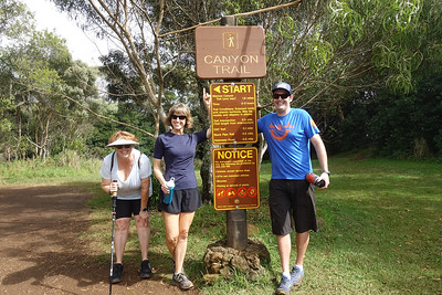 At the start of the Canyon Trail Hike