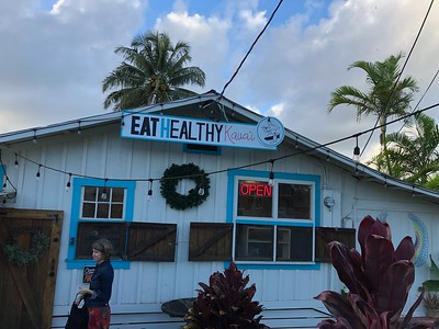 We had the most meals at Eat Healthy Kauai.  Very tastey and vegan.