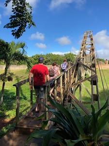 Hanging bridge in Hanapepe.