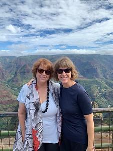 Nancy and Tabitha by the Waimea Canyon.