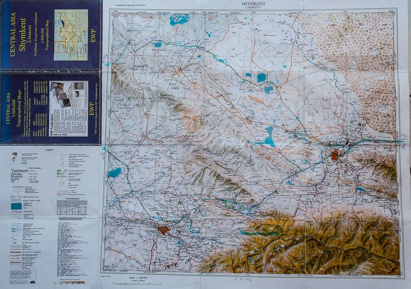 Map Chimkent