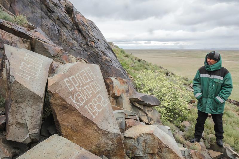 our Kazakh guide, Petroglyphs area