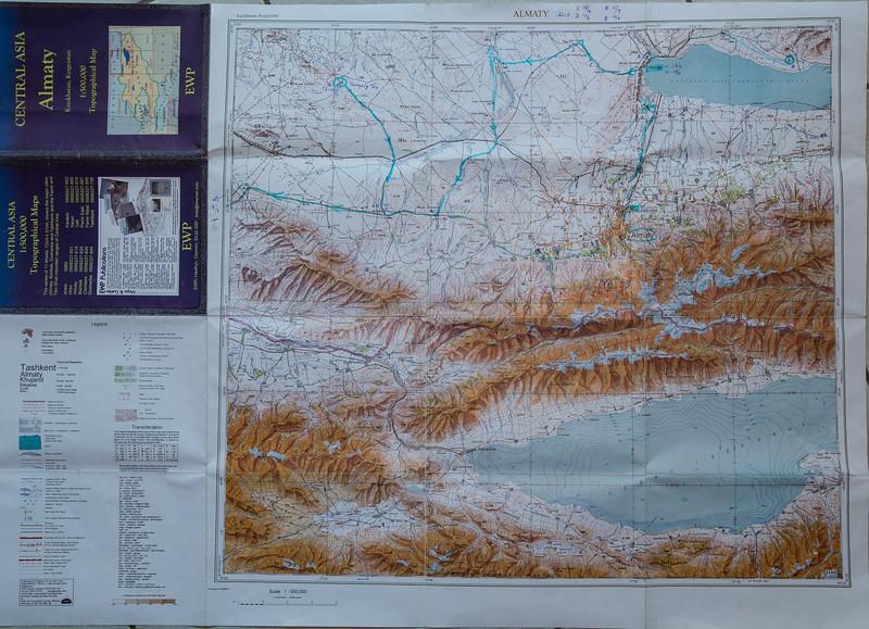 Map Almaty