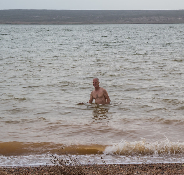 salty swimming water