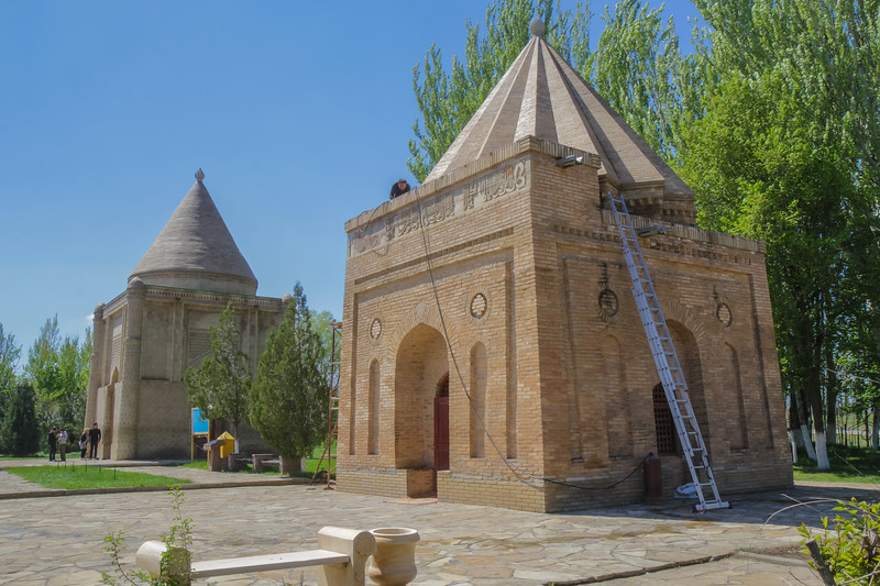 Restoration works, Aisha Bibi Mausoleum