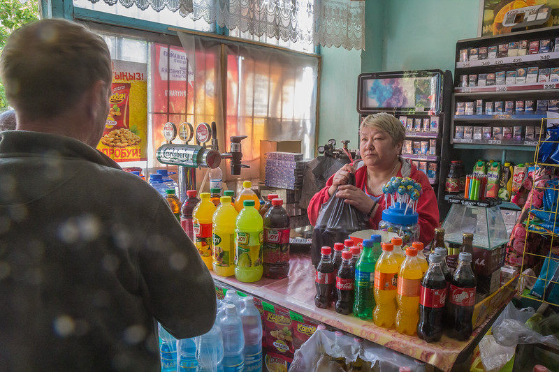 Aksu, 50KM E of Shymkent, loc S