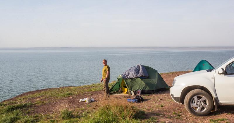 Lake Akkol, April 21-22th, loc.O