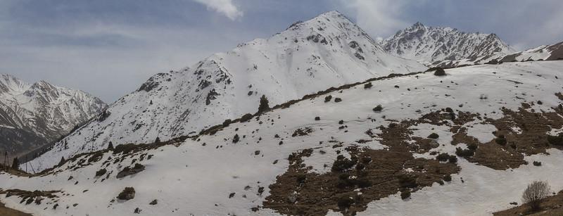 Zailiysky Alatau above Big Almaty Lake