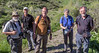 The members of our flora/fauna-group:  Harrie, Marijn, Hans, Arien and Kok
