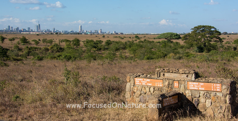 Nairobi National Park Sign