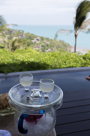 Arrival drink at the Four Seasons Koh Samui