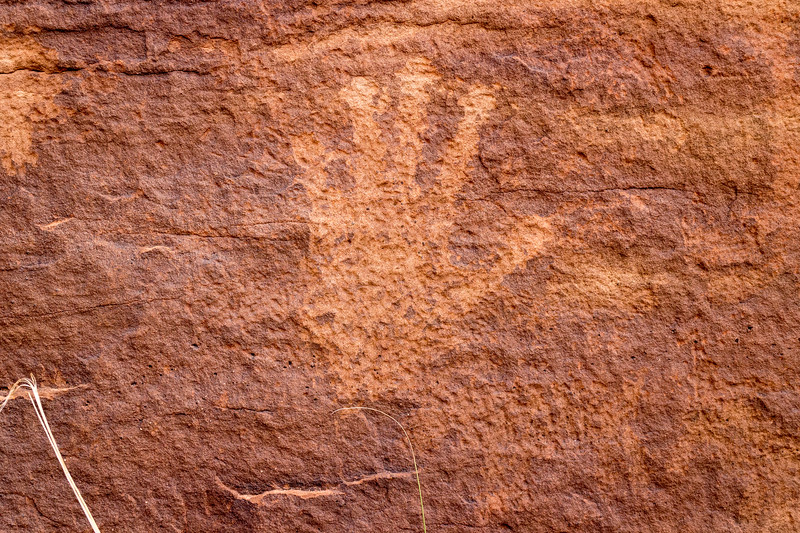 Ancient people's hand print