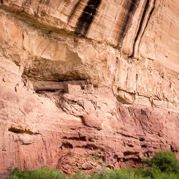 An Anasazi house or granary on a cliff above the Green River